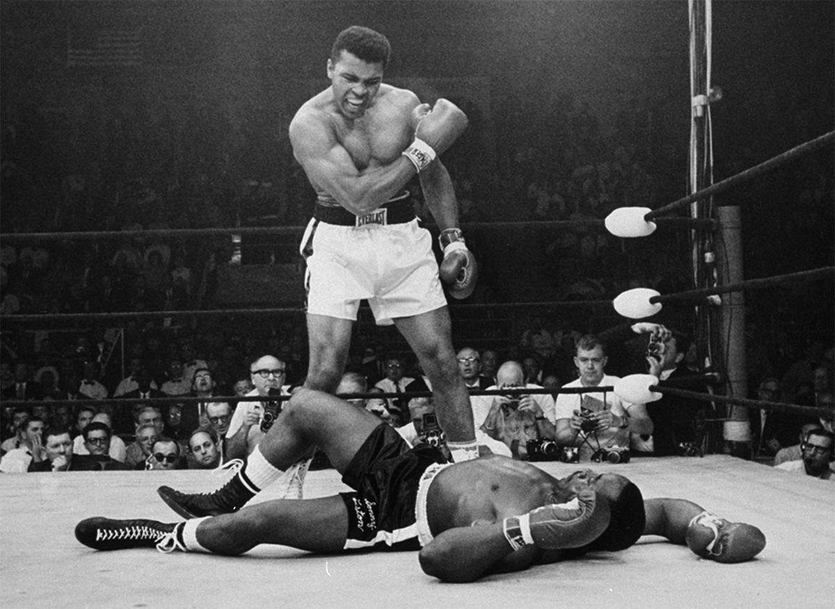 Muhammad Ali and Sonny Liston
