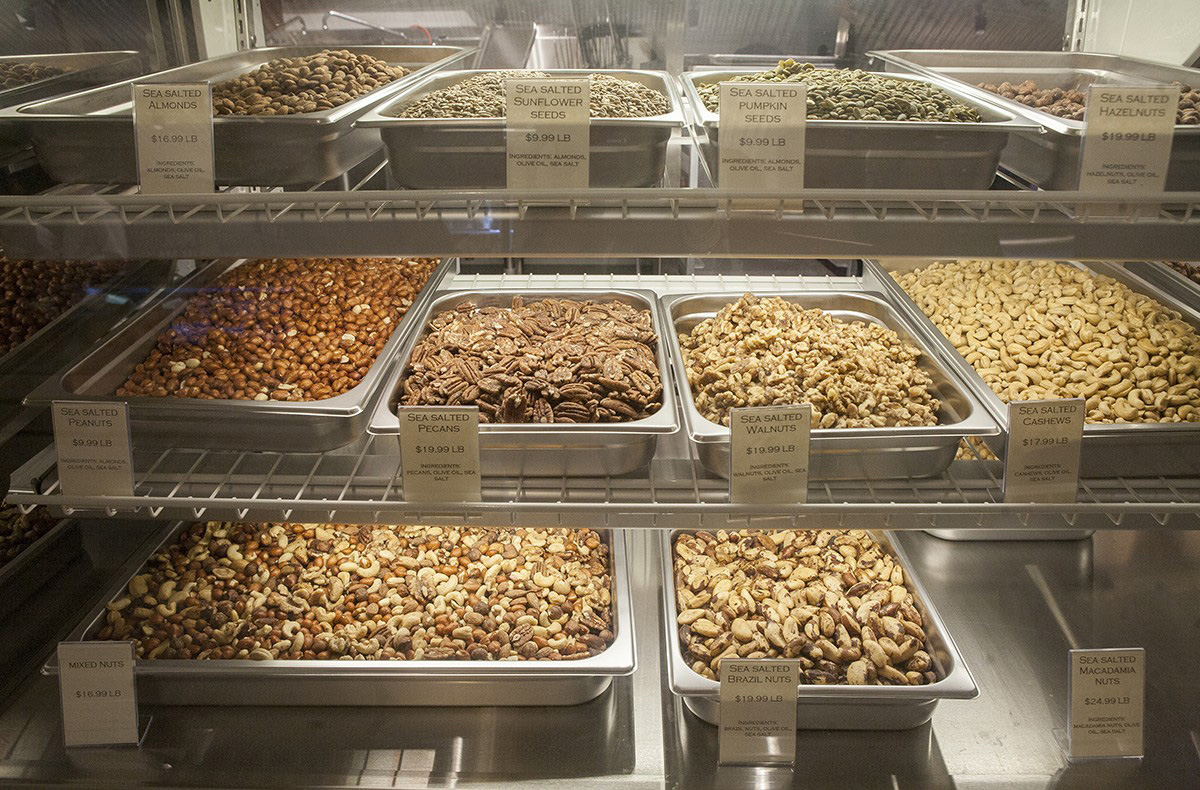 Q's nuts at Boston Public Market. / Photo by Olga Khvan.