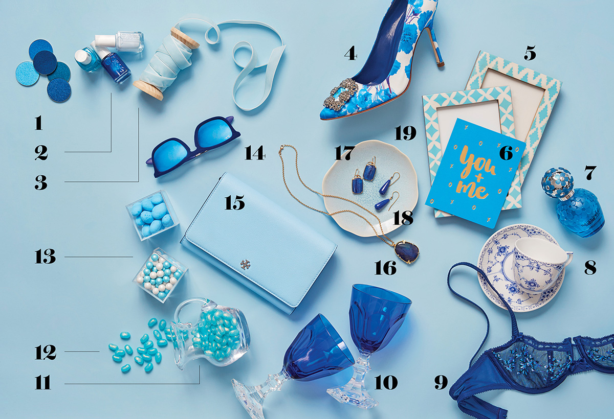 blue wedding accessories