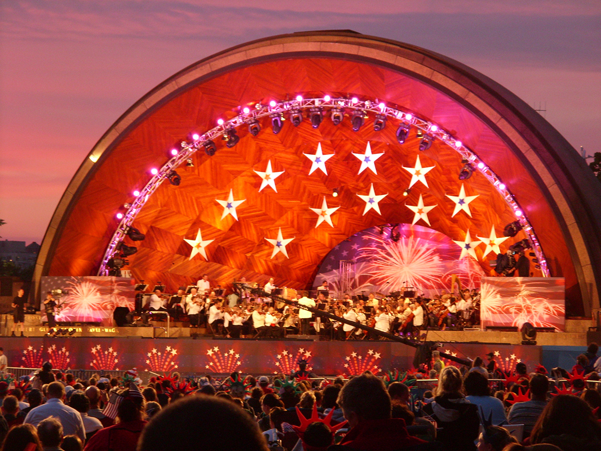 boston pops fourth of july spectacular at the hatch shell; free things to do in boston july