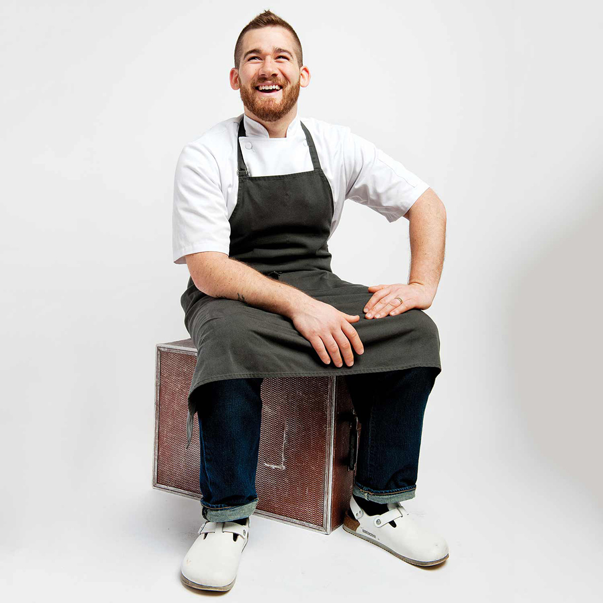 """Chef John da Silva of Spoke. / Photo by Webb Chappell for """"Best of Boston 2015 Best Chef Up-and-Coming."""""""