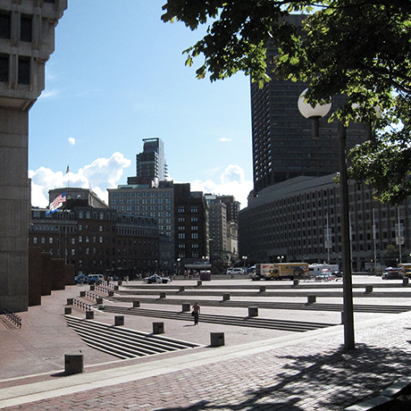 """City Hall Plaza Boston 2009"" by M2545 on Wikimedia Commons."