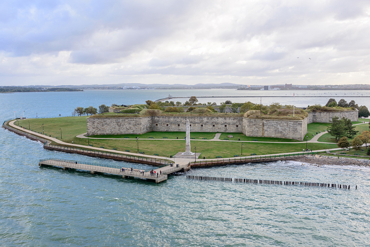 Fort Independence in Boston Harbor. / PHOTO BY CRAIG STANFILL ON FLICKR/CREATIVE COMMONS
