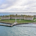 Fort Independence, in Boston Harbor