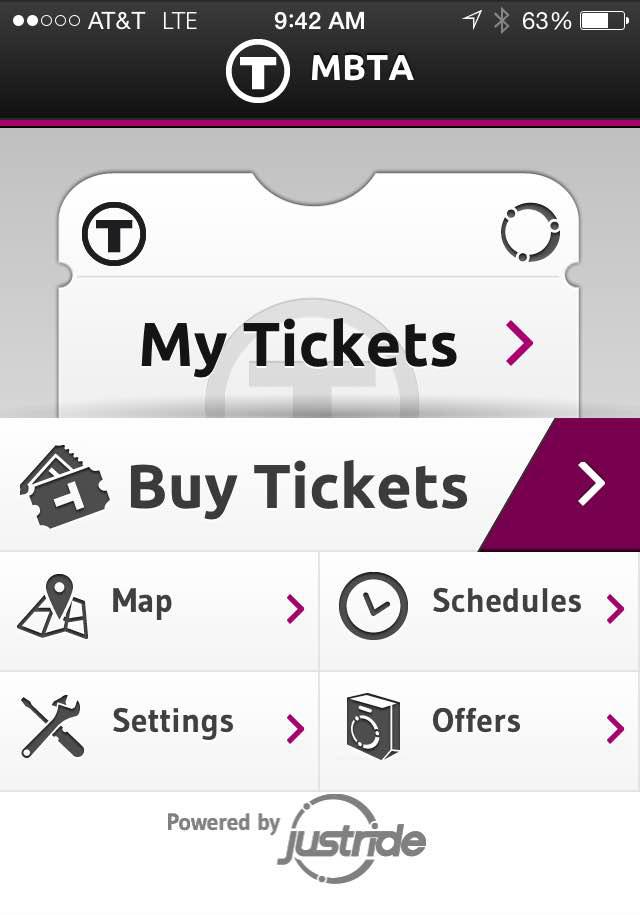 MBTA mTicket app on iPhone / Photo by Gabrielle DiBenedetto