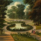 Thomas Chambers (American, 1808 - 1866 or after ), Mount Auburn Cemetery, mid 19th century, oil on canvas, Gift of Edgar William and Bernice Chrysler Garbisch