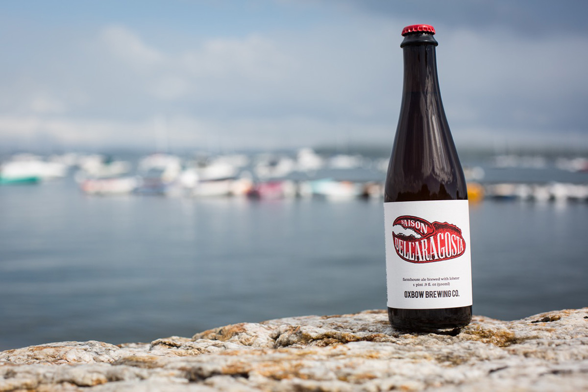 Oxbow's Saison Dell'Aragosta. / Photo by Walker Stockly.