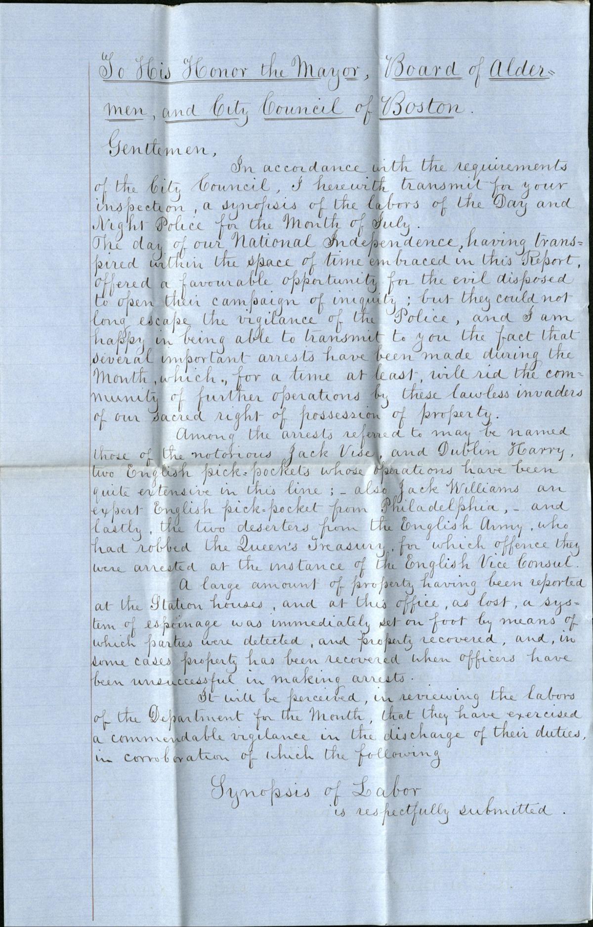 Letter via City of Boston Archives/Public domain