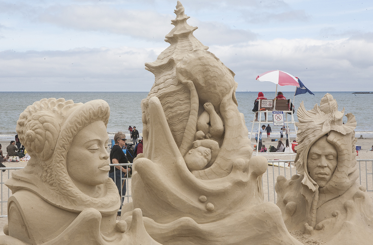 revere sand sculpting; free things to do in boston july