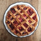 Strawberry rhubarb pie from Rosebud. / Photo provided.