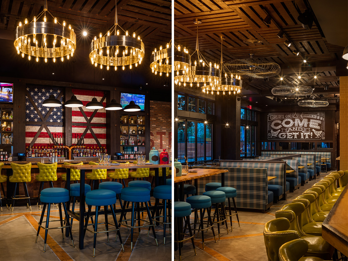The bar and communal seating at Southern Kin. / Photo by Warren Jagger.