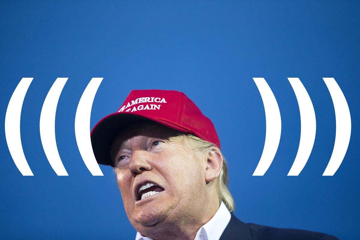 Trump photo via AP