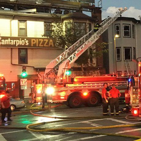 7 news Santarpio's east boston fire square