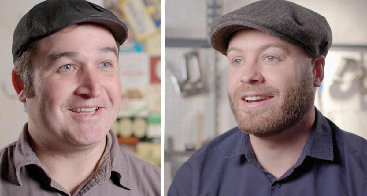 Democracy Brewing is brewer Jason Taggart (L) and cofounder James Razsa