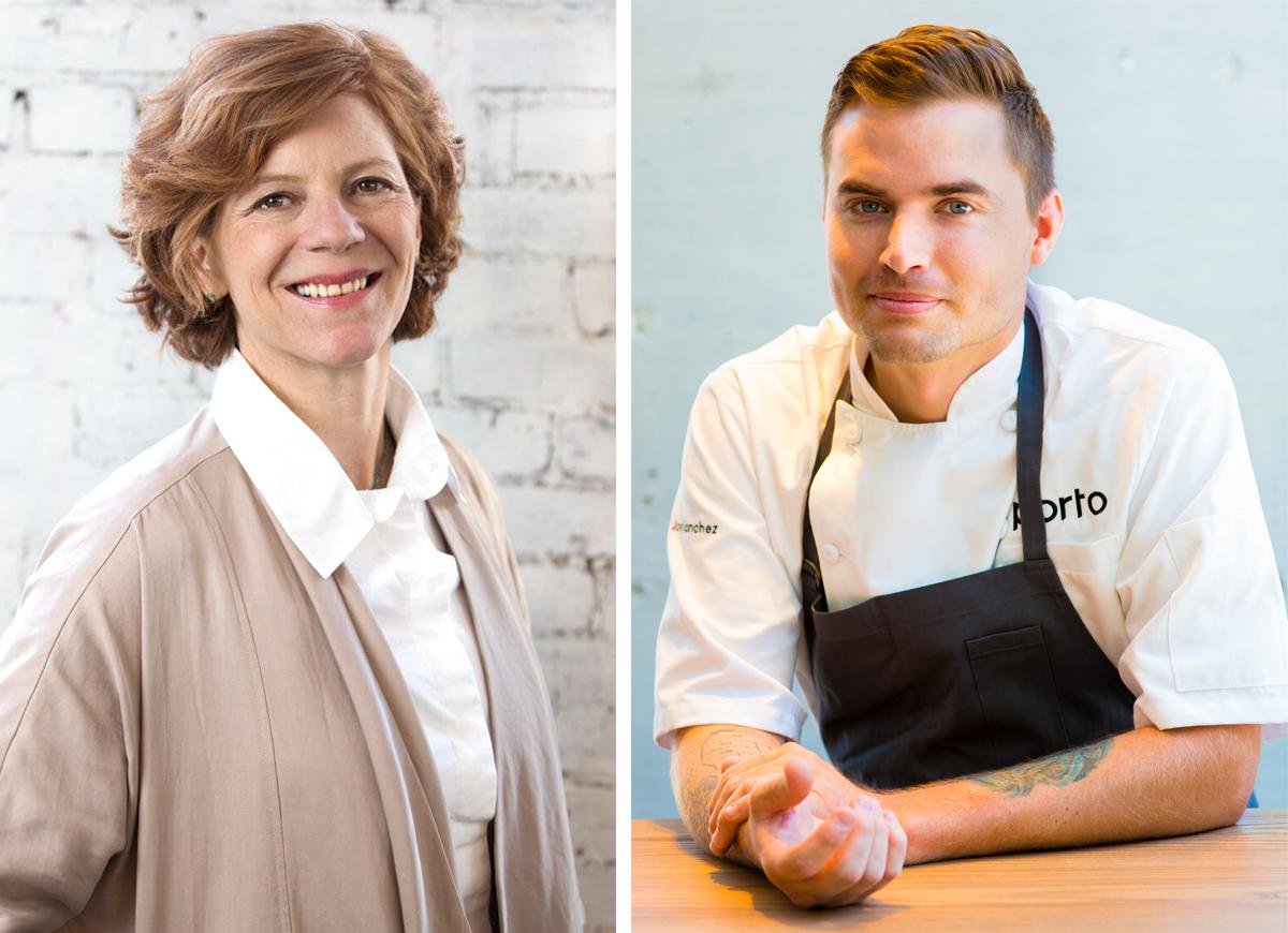 Jody Adams and chef Jon Sanchez of Porto