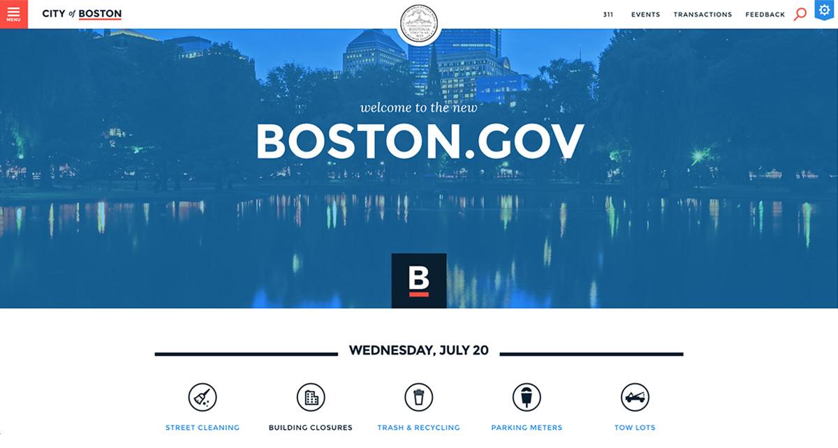 boston.gov homepage website redesign launch