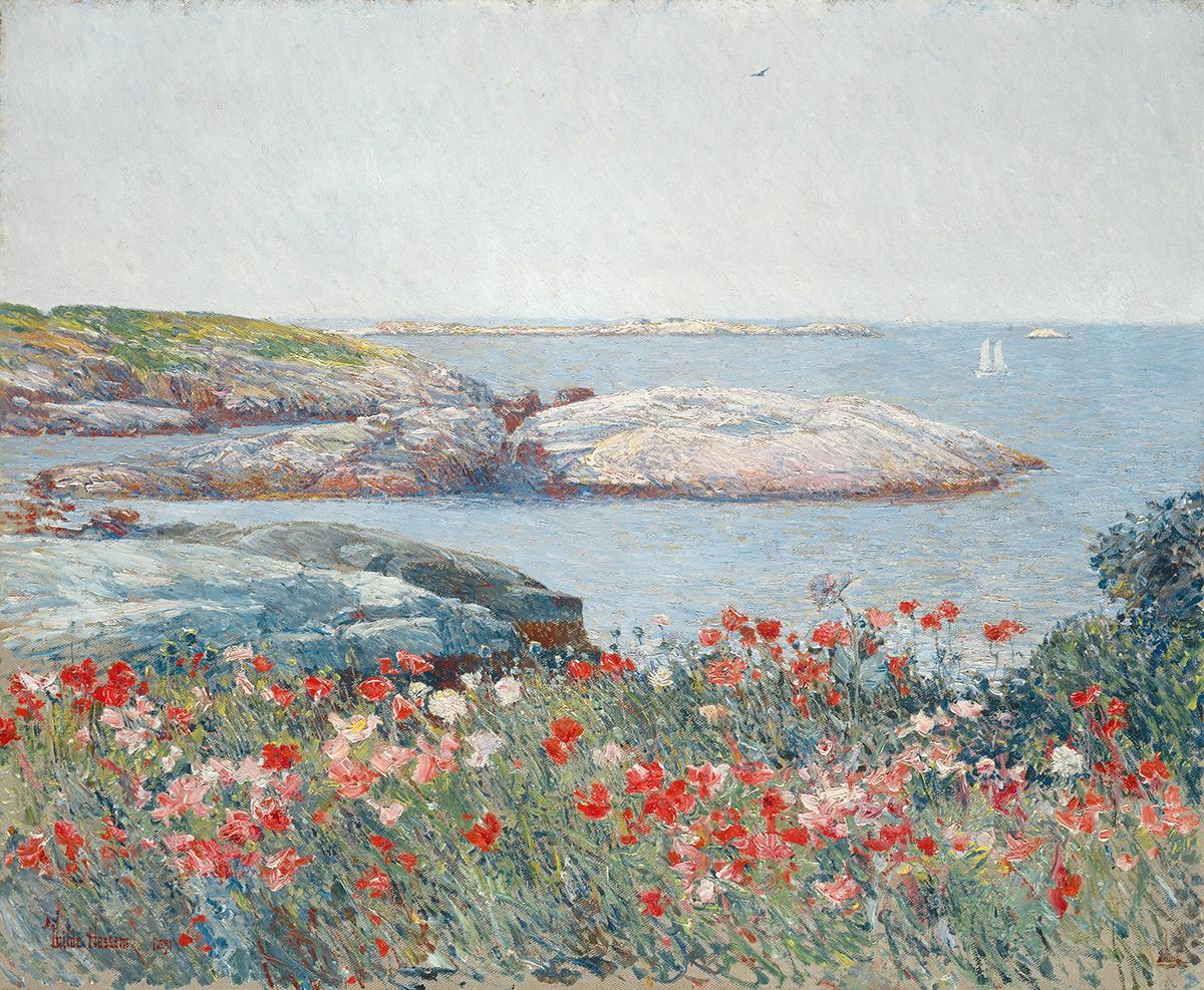 Childe Hassam Poppies Isles of Shoals 1891 Peabody Essex Museum