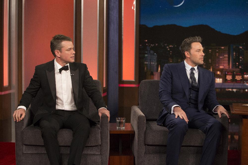 Matt Damon and Ben Affleck on 'Jimmy Kimmel Live!'