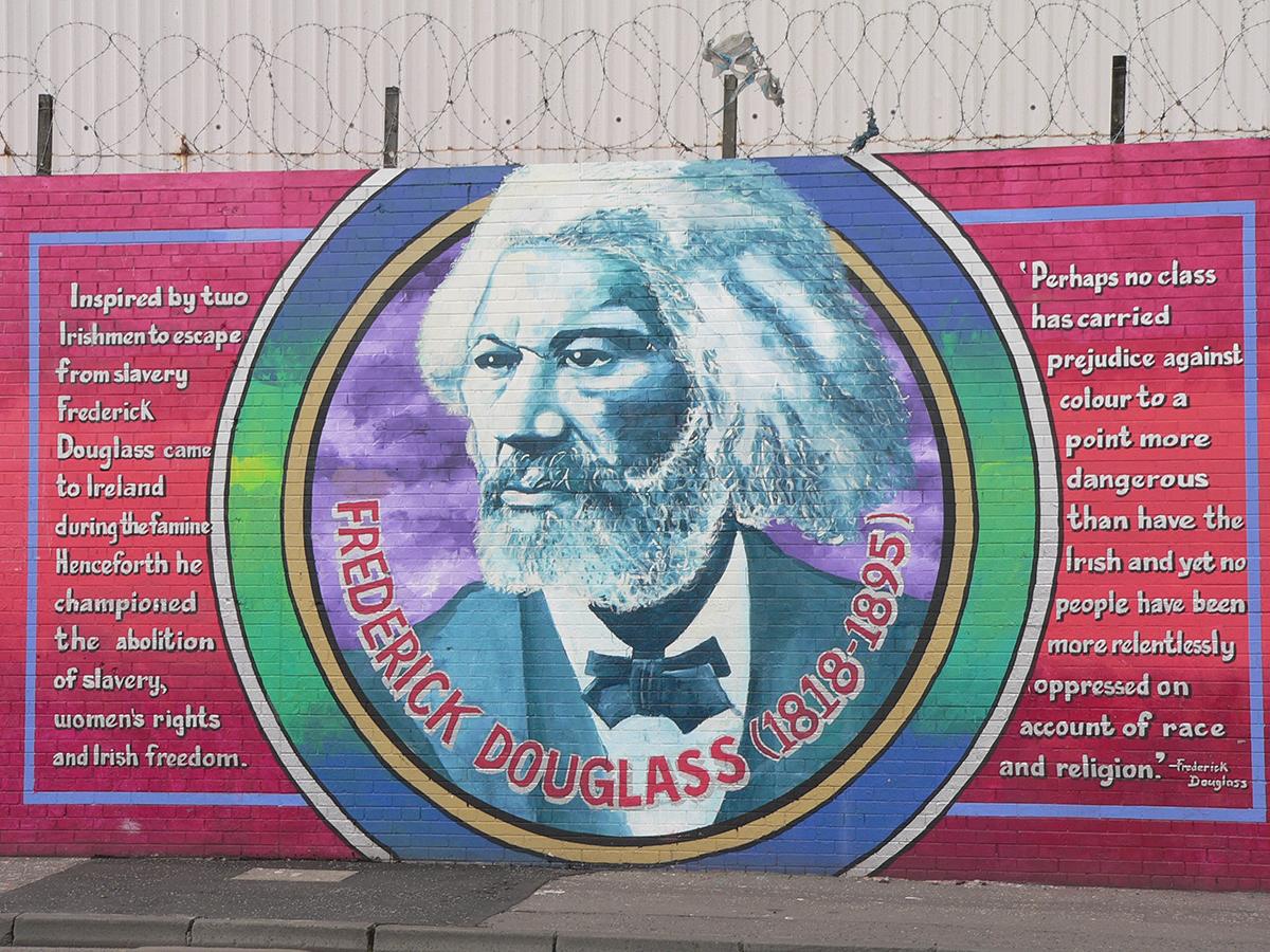 frederick douglass mural in belfast in northern ireland