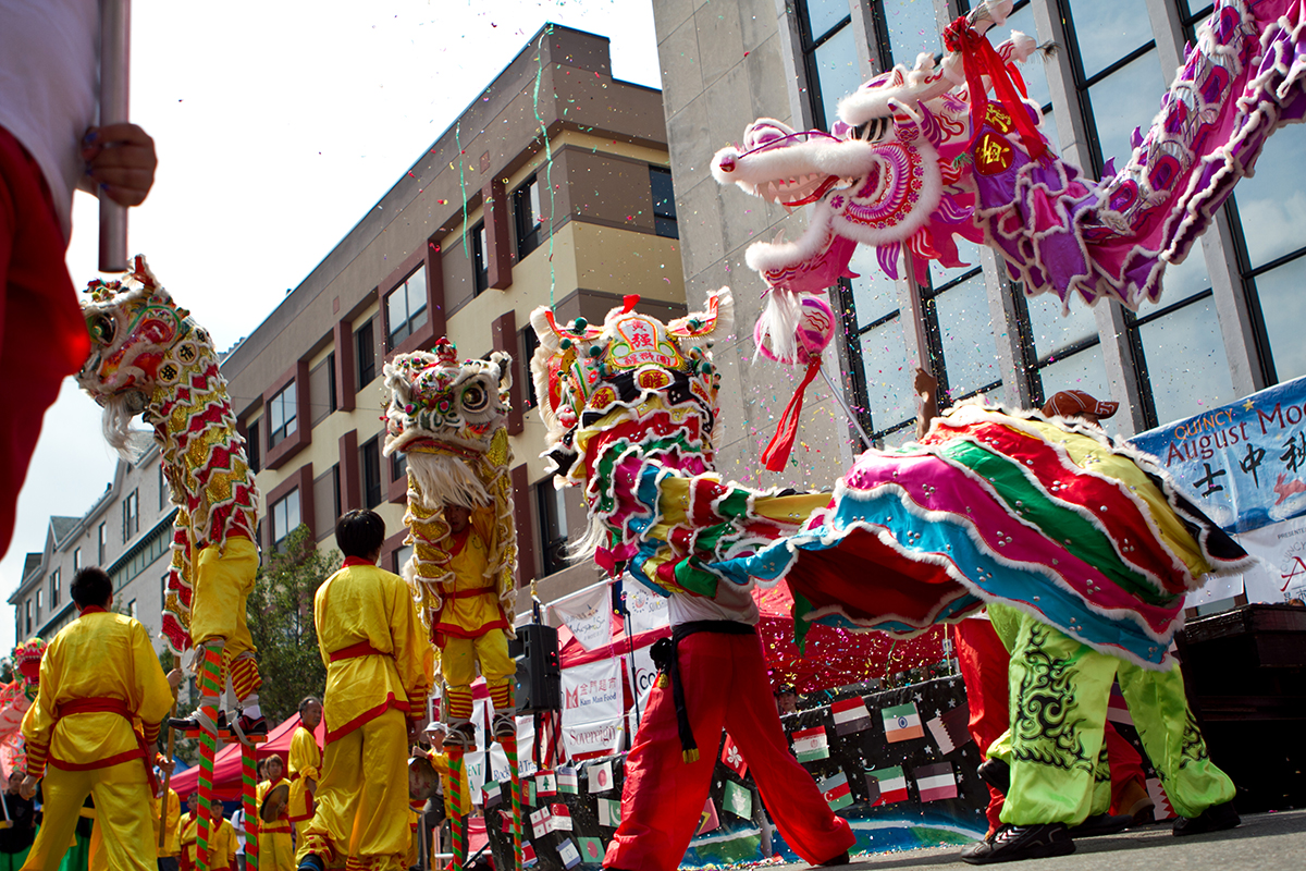 August free things: lion dance at Quincy August moon festival