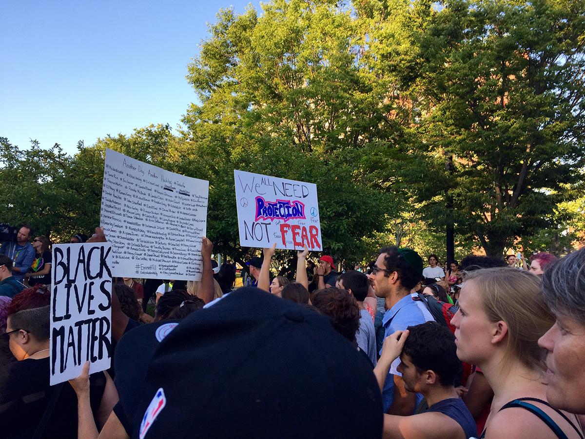 black lives matter protest boston 2016