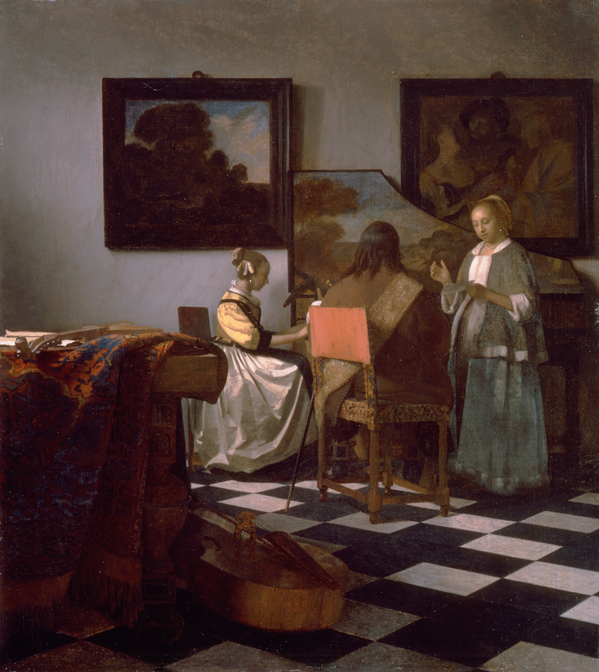 The concert *oil on canvas *72.5 x 64.7 cm *circa 1663-1666