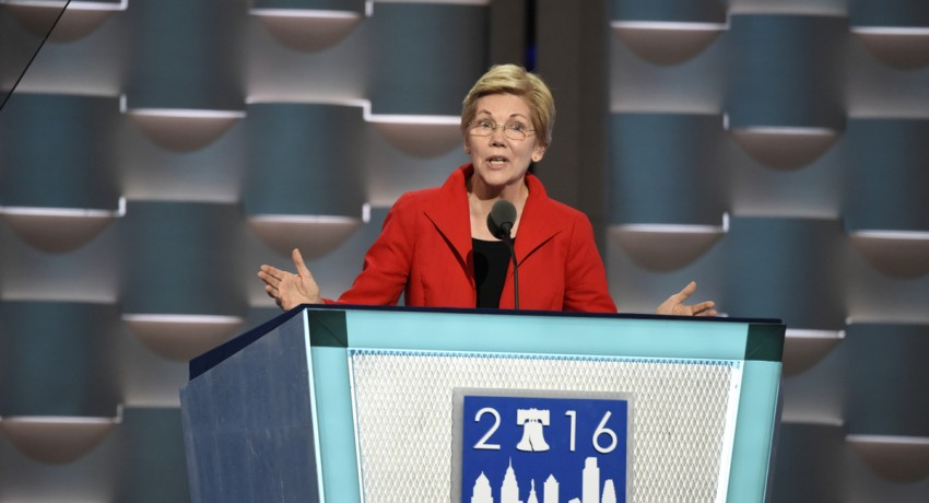 ABC NEWS - 7/25/16 - Coverage of the 2016 Democratic National Convention from the Wells Fargo Center in Philadelphia, PA which airs on all ABC News programs and platforms. (ABC/Ida Mae Astute)    SENATOR ELIZABETH WARREN