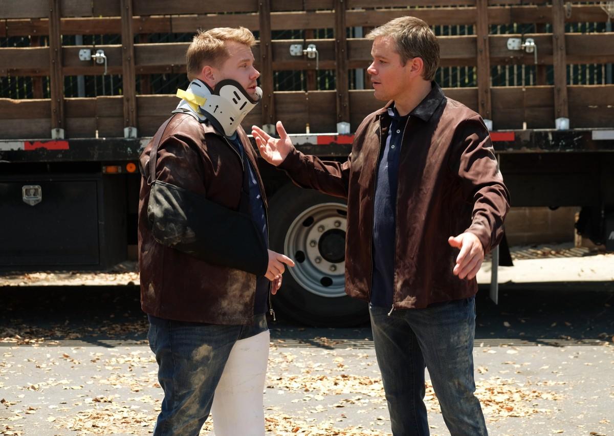 James Corden and Matt Damon