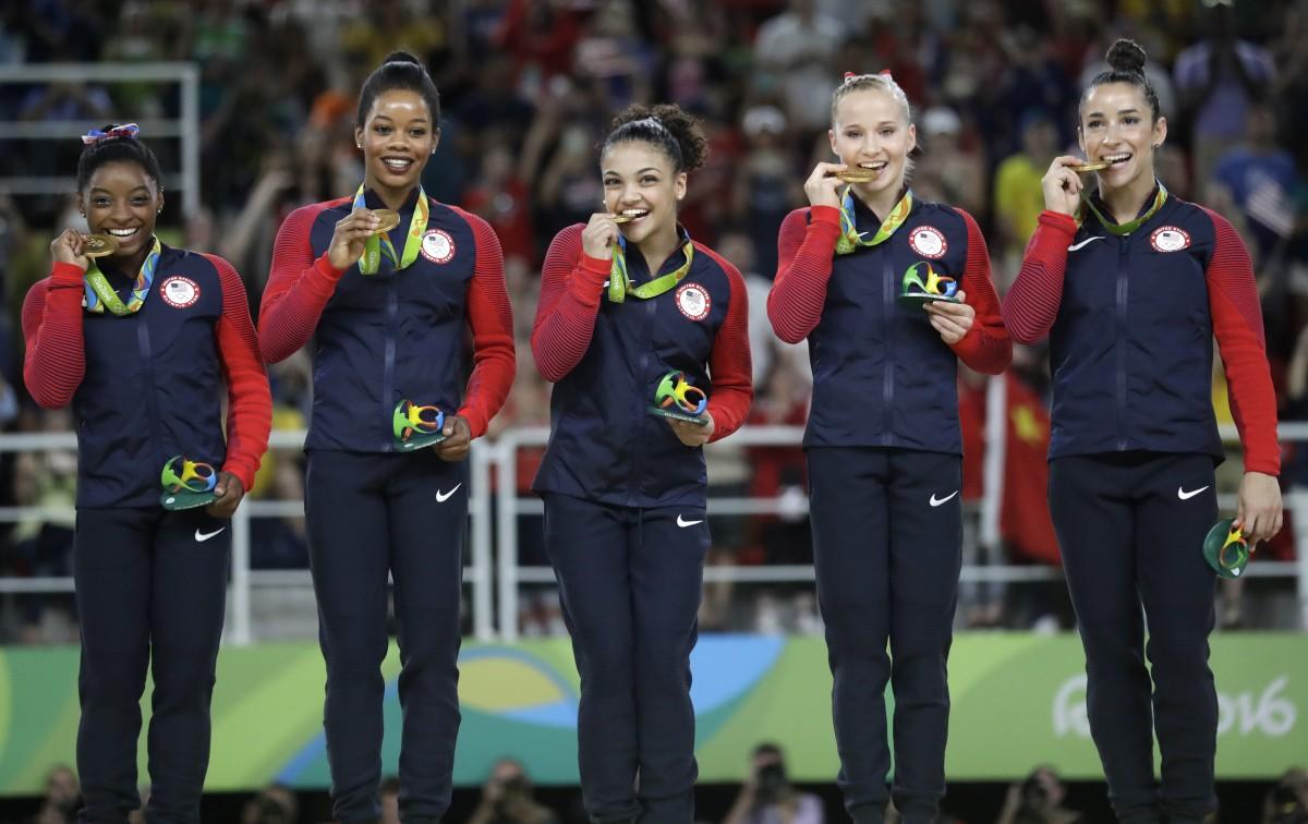 U.S. women's gymnastics team at RIo Olympics