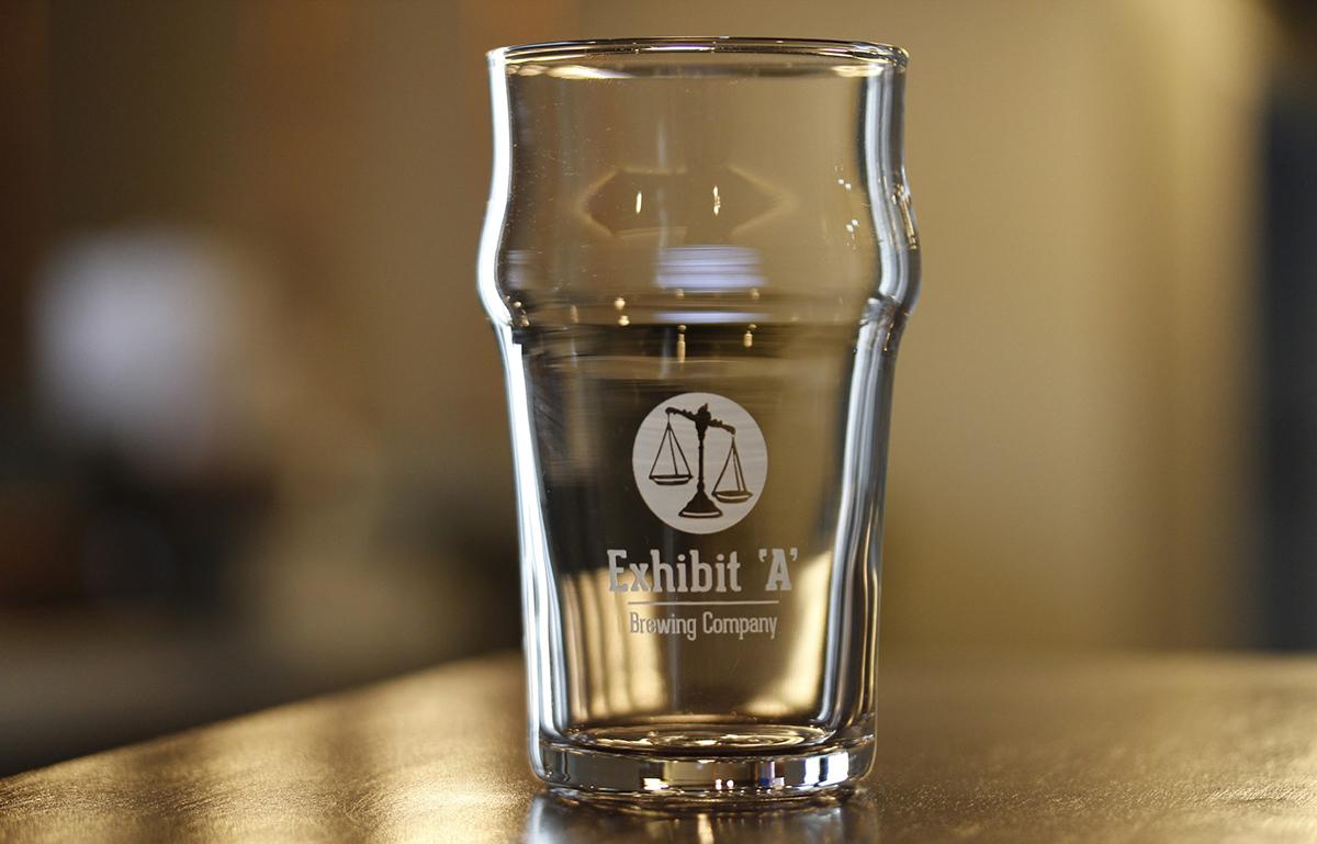Exhibit 'A' Brewing Company glassware