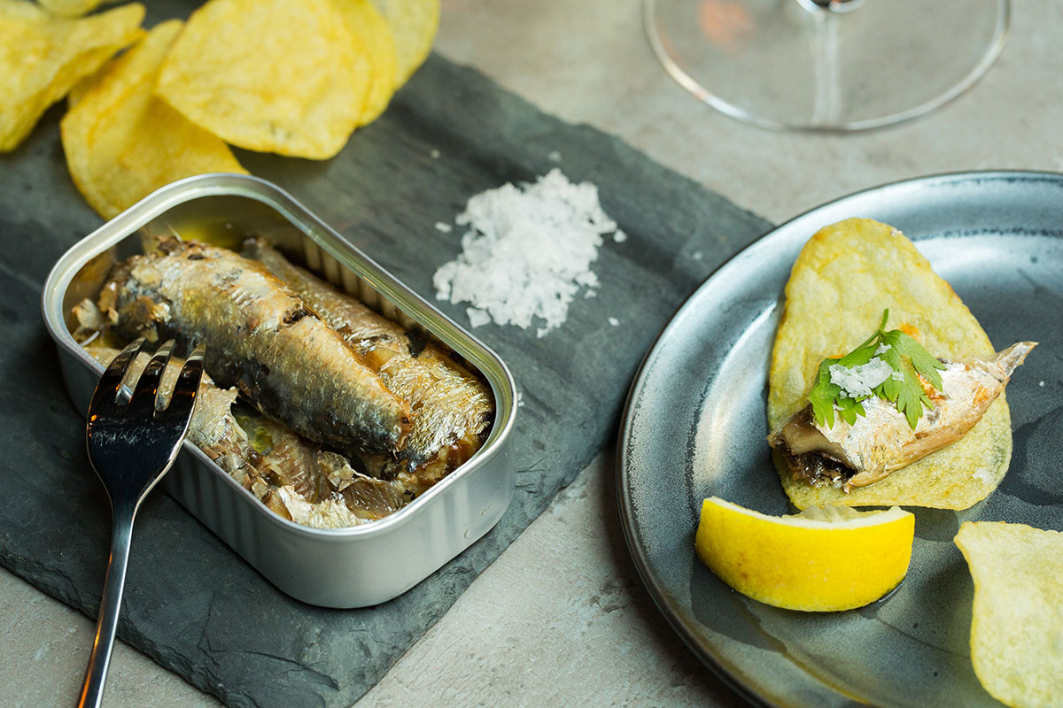 Tinned fish at Haley.Henry Wine Bar