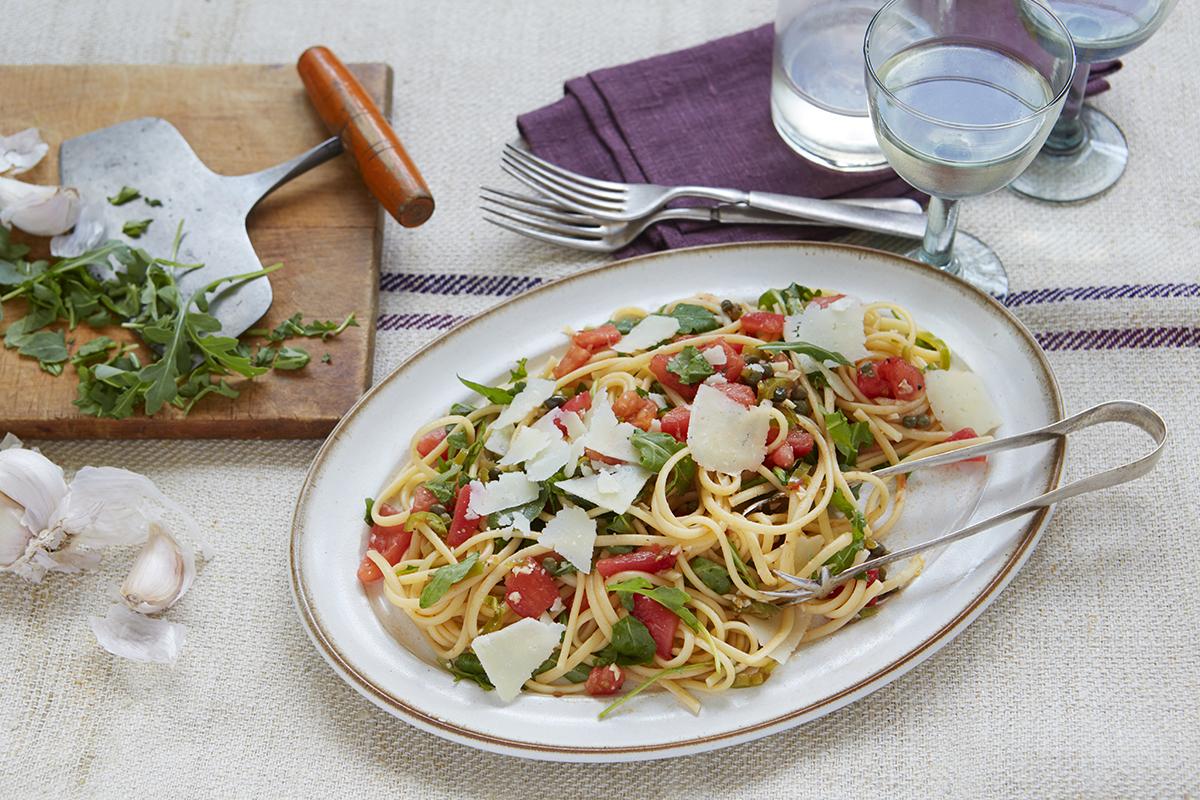 Linguini with salsa cruda by Jody Adams