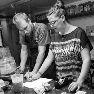 Owen Royce-Nagel and Lizzie Szczepaniak of JP Beer Garden