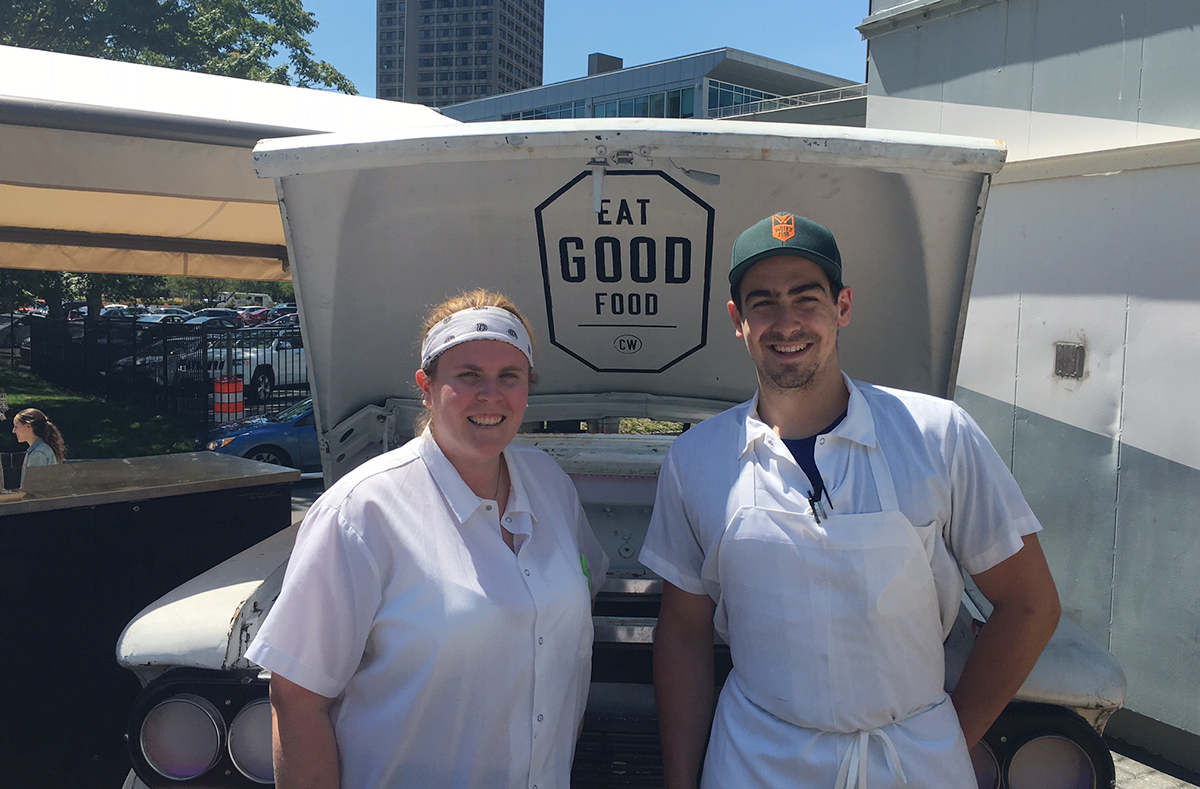 Commonwealth chef de cuisine Ellie Campbell and sous chef Nicco Murator at Szechuan Samurai. / Photo provided