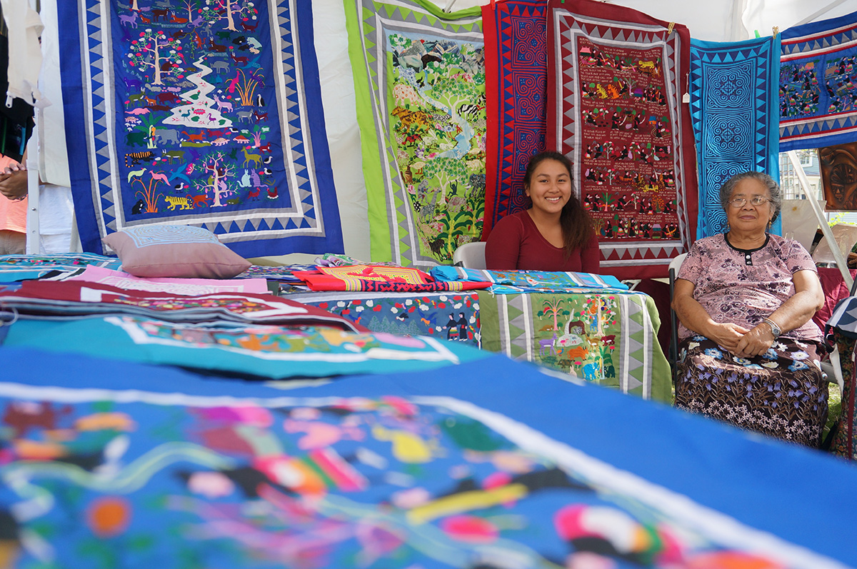 Chia Yang Khang, a Hmong embroidery artist from Laos / Photo by Cultural Survival