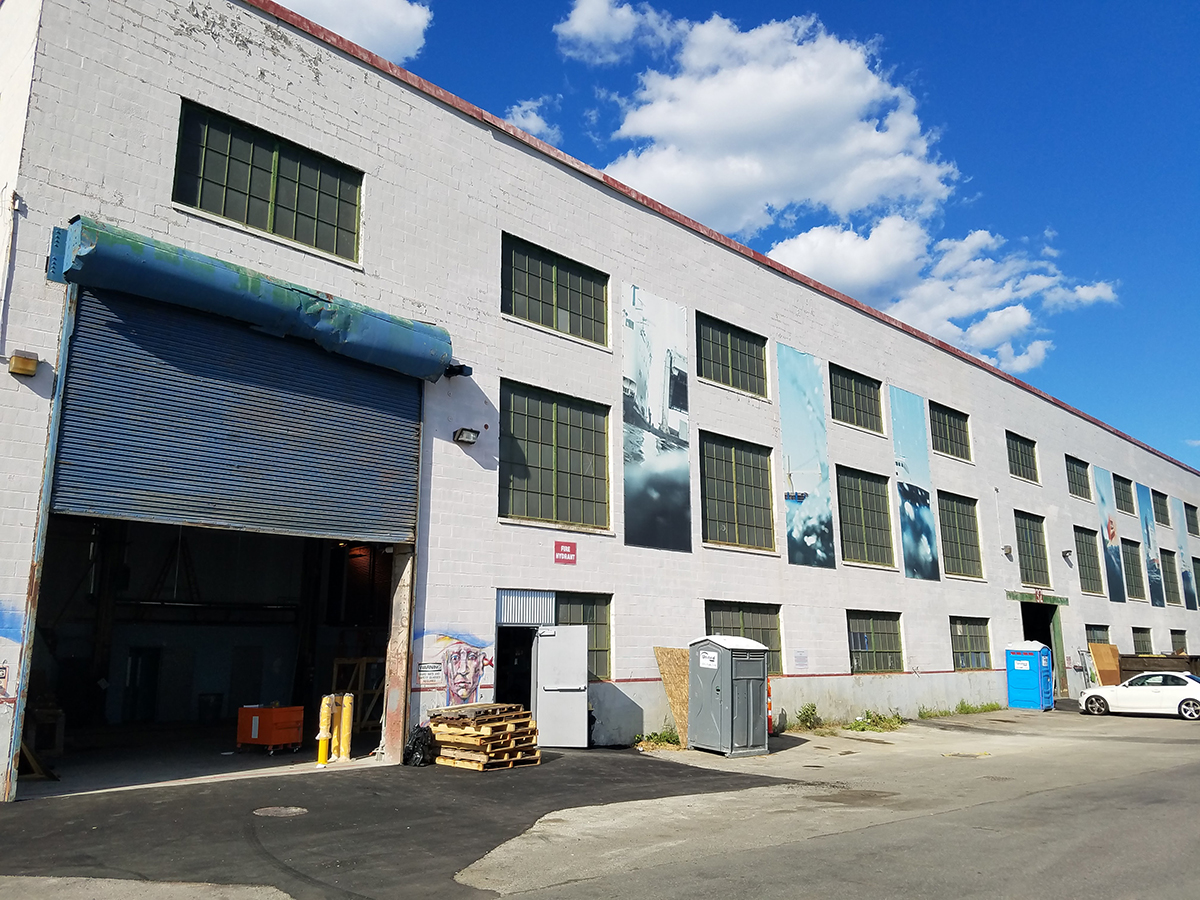 Downeast Cider's new space in East Boston's Shipyard.