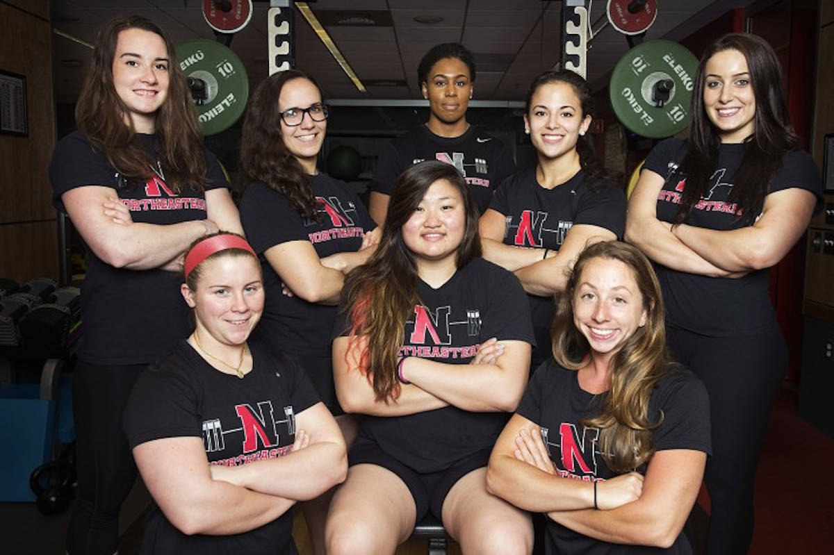 Northeastern women's powerlifting team photo provided.