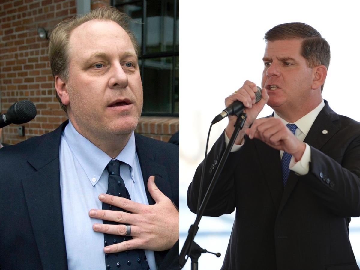Schilling photo via AP. Walsh photo via Mayor's Office