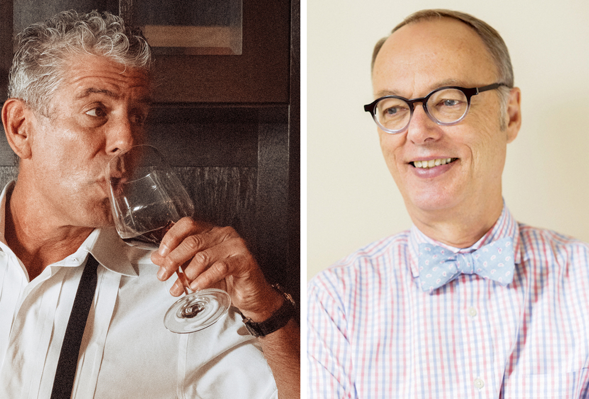 Anthony Bourdain and Christopher Kimball. / Photos provided
