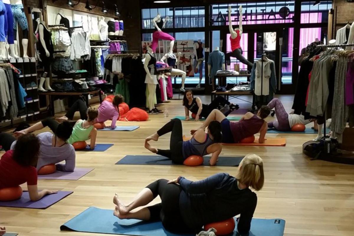 Athleta yoga class. Photo provided.