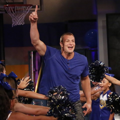 Episode 203 - Pictured: Cast Member: Rob Gronkowski in CRASHLETES on NICKELODEON.  Photo: Robert Voets/Nickelodeon.  ©2016 Viacom, International, Inc. All Rights Reserved.