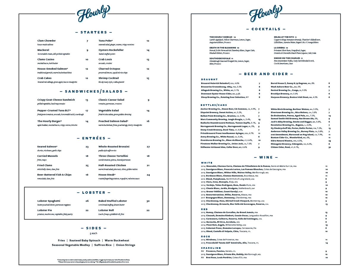 The Hourly menu