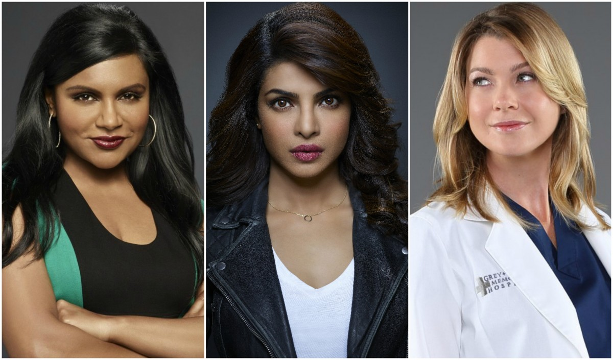 Mindy Kaling, Priyanka Chopra, and Ellen Pompeo