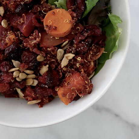beet quinoa pilaf