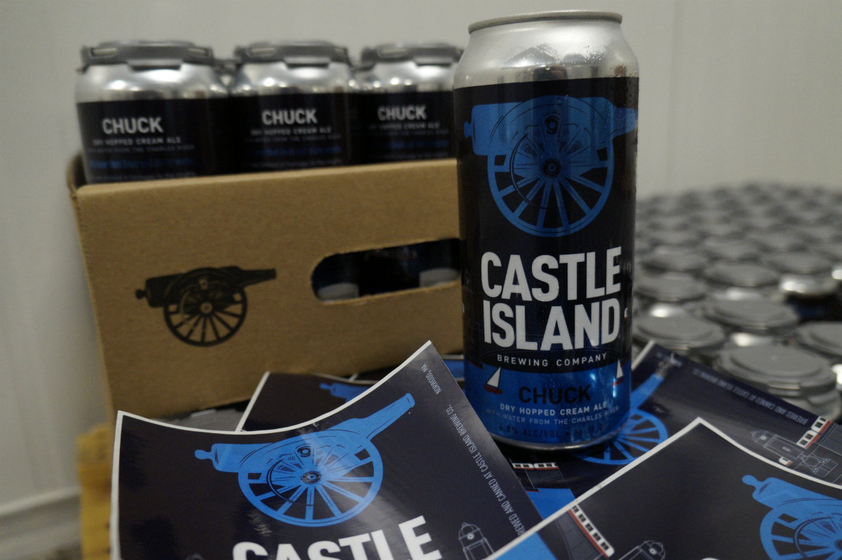 Castle Island Brewing Company's Chuck, a dry-hopped cream ale brewed with water from the Charles. / Photo provided