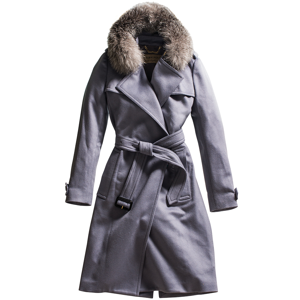 burberry tempsford cashmere wrap trench