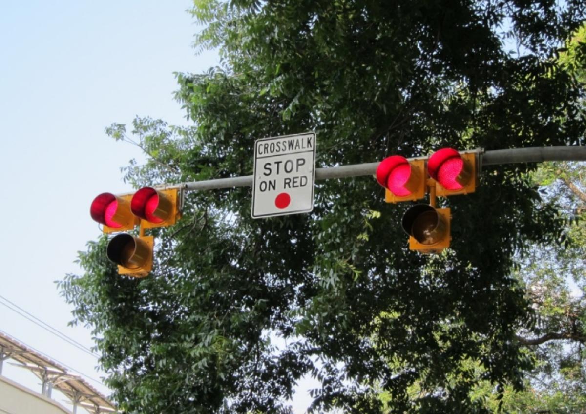 hawk crosswalk