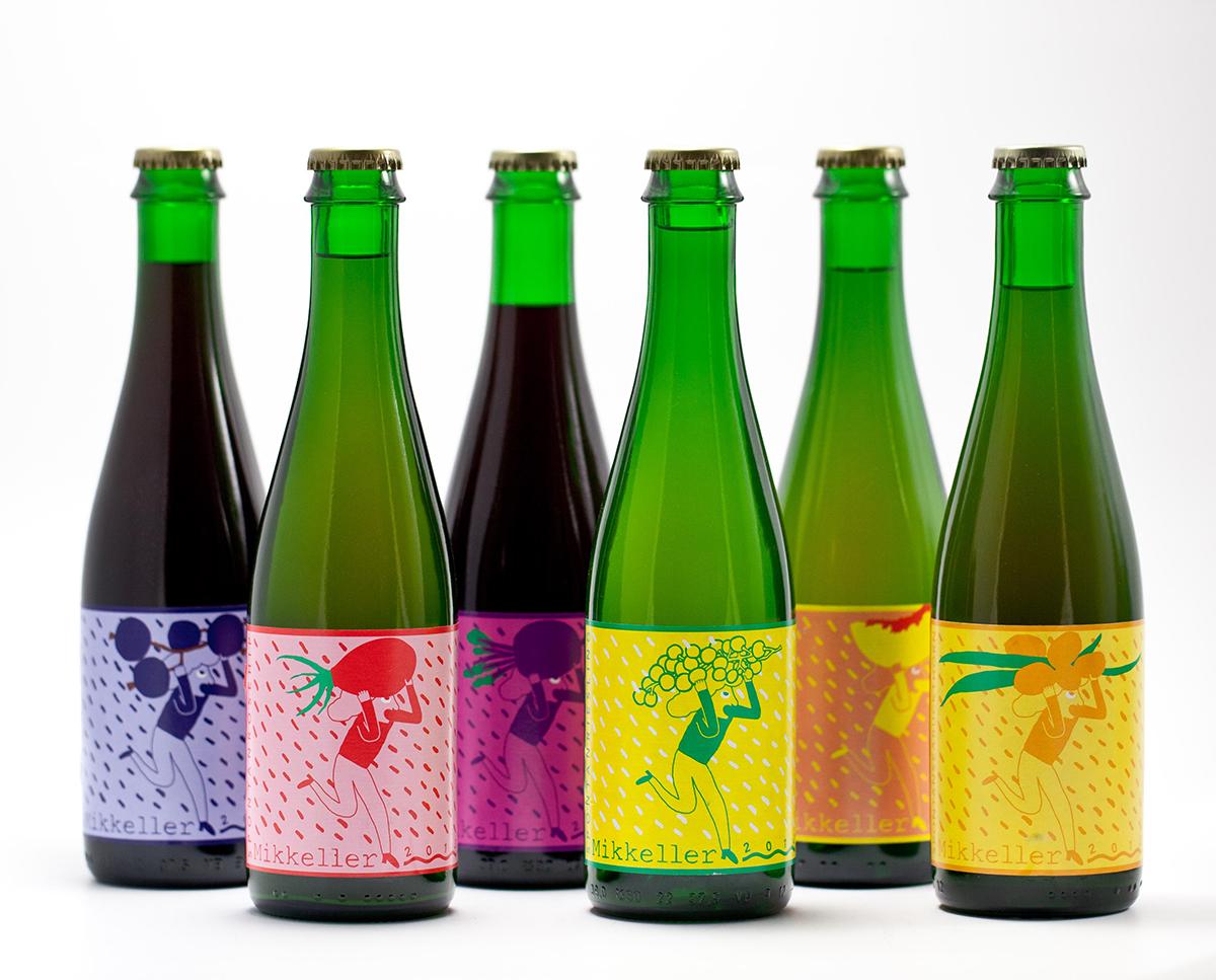 Bottles of Mikkeller's Spontan Ales series. / Photo by Mikkeller