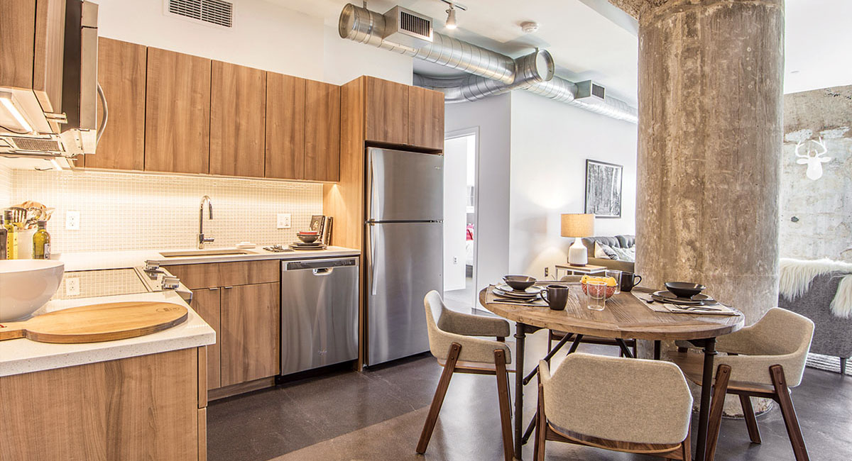 Millbrook Lofts Are Somervilles Coolest New Luxury Condos - Millbrook kitchen cabinets