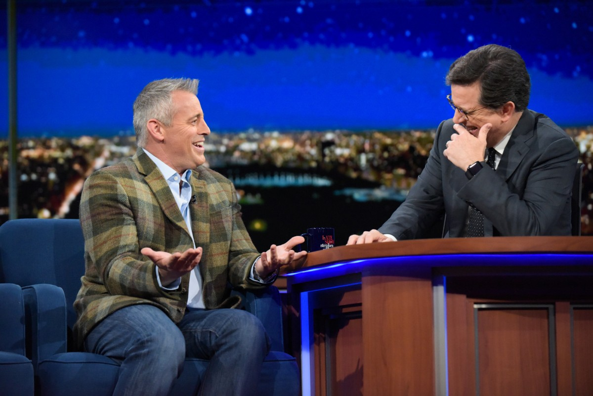 Matt LeBlanc and Stephen Colbert